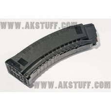 PufGun magazine AK-74/Vepr 5.45x39 60rd BLACK quad-stack (with metal back tooth)