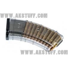 PufGun AK magazine 7.62x39 20rd TRANSPARENT G1