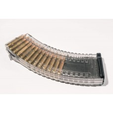 PufGun AK magazine 7.62x39 30rd TRANSPARENT G2M (with steel reinforced front and back teeth)