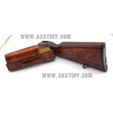 Izhmash Red AK-47 Stock set for Milled Receivers by Siberian Customs (Made in USA)