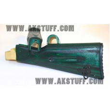 SC Green AK-74 Stock set by Siberian Customs (Made in USA)